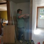 Mark helping with renovation